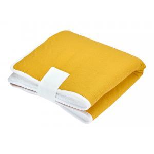 KraftKids Reisewickelunterlage Doppelkrepp Gelb Mustard 3 Lagen wasserundurchlässig weich Frotte 100% Baumwolle