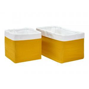 KraftKids Körbchen Doppelkrepp Gelb Mustard 20 x 33 x 20 cm