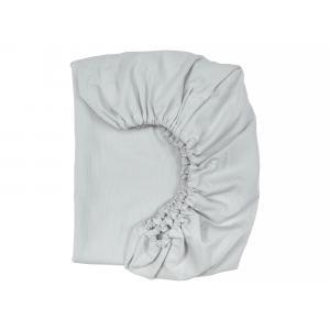 KraftKids Spannbettlaken Doppelkrepp Grau passend für Matratze 120 x 60 cm