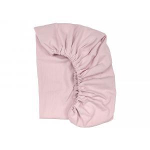 KraftKids Spannbettlaken Doppelkrepp Rosa passend für Matratze 140 x 70 cm
