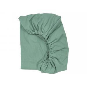 KraftKids Spannbettlaken Doppelkrepp Grün Jade passend für Matratze 140 x 70 cm