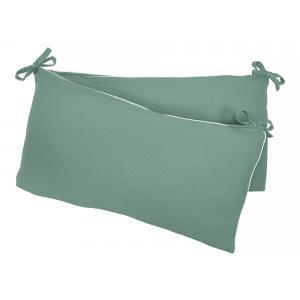 KraftKids Nestchen Doppelkrepp Grün Jade Nestchenlänge 60-70-60 cm für Bettgröße 140 x 70 cm