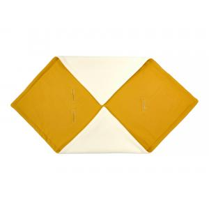 KraftKids Decke für Babyschale Winter Doppelkrepp Gelb Mustard