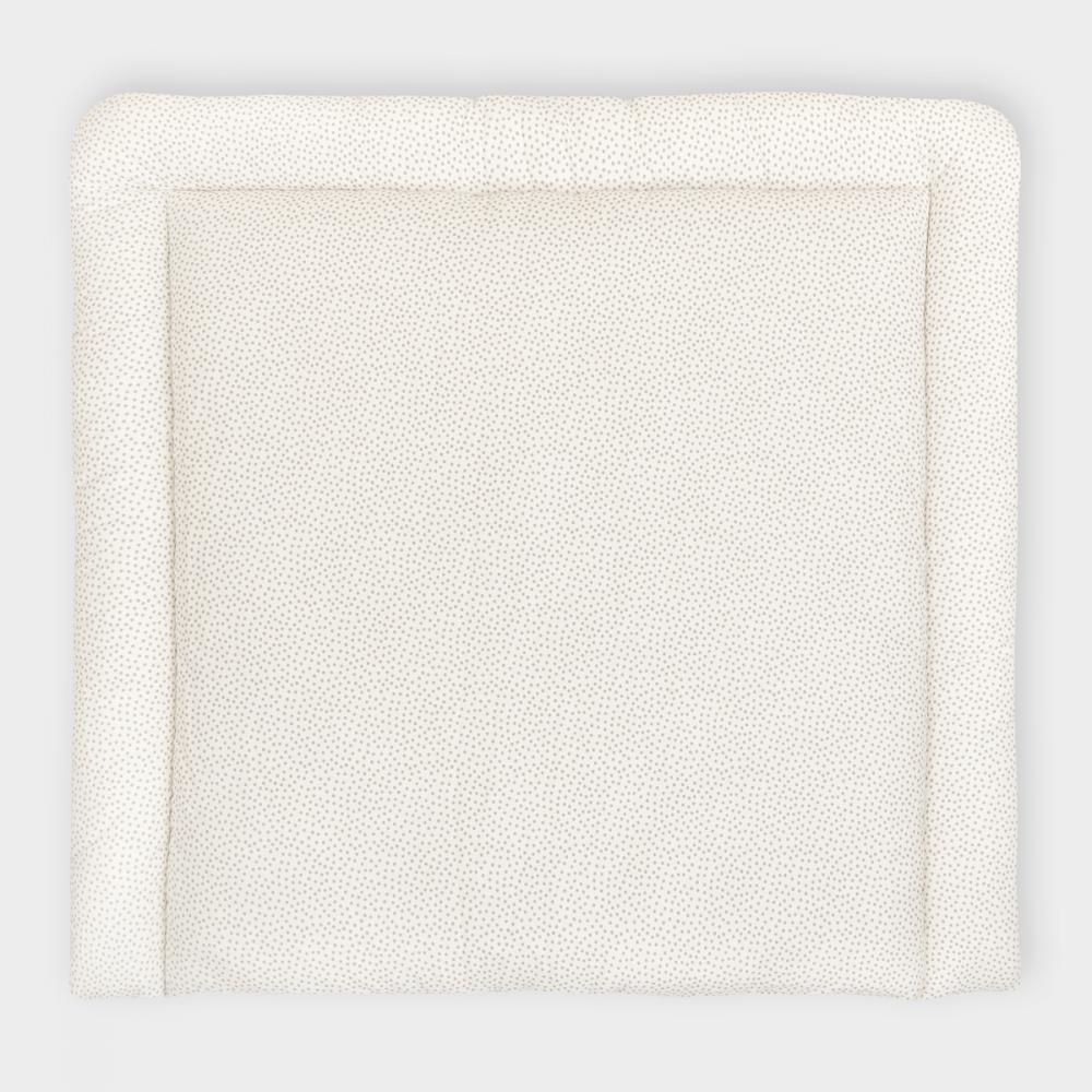 KraftKids Wickelauflage graue unregelmäßige Punkte auf Weiß breit 75 x tief 70 cm