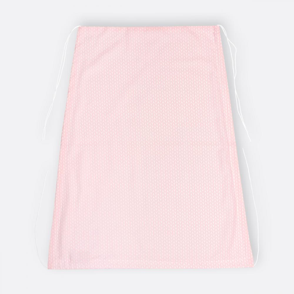 KraftKids Sonnensegel kleine Blätter rosa auf Weiß