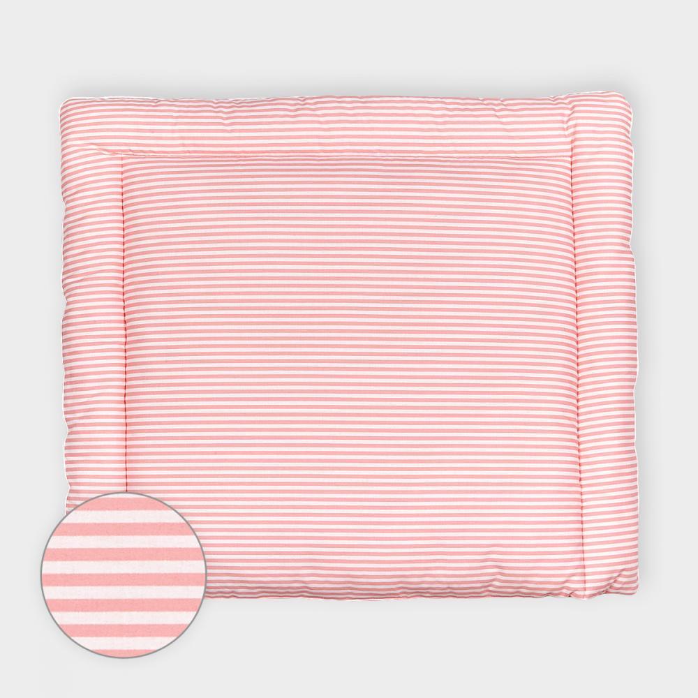 KraftKids Wickelauflage Streifen rosa breit 75 x tief 70 cm