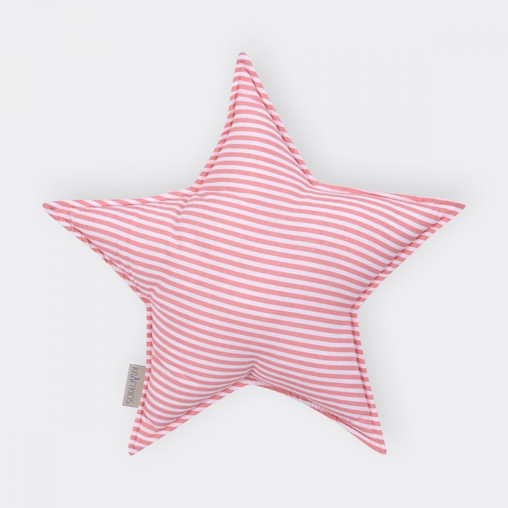 KraftKids Dekoration Sternkissen Streifen rosa