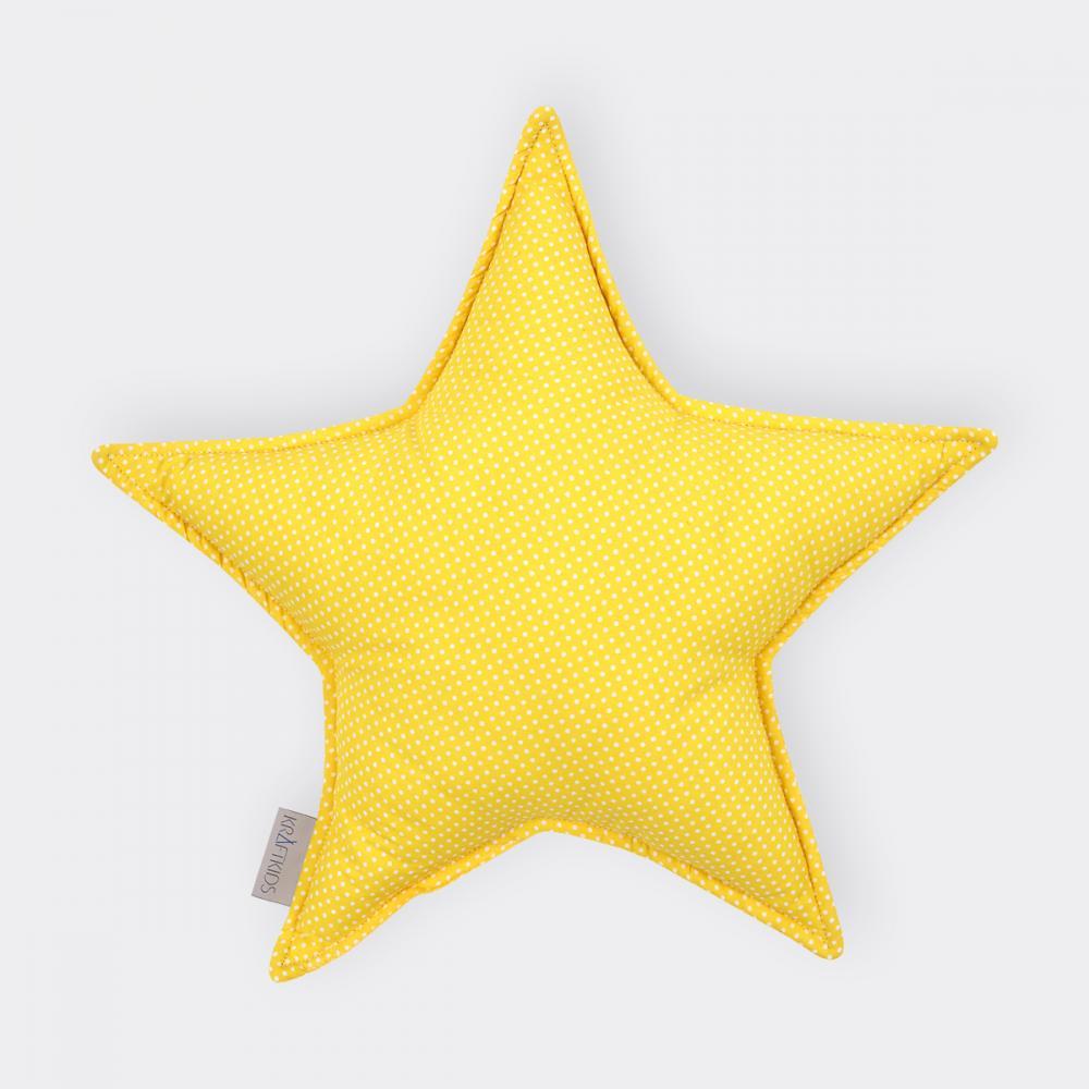 KraftKids Sternkissen weiße Punkte auf Gelb