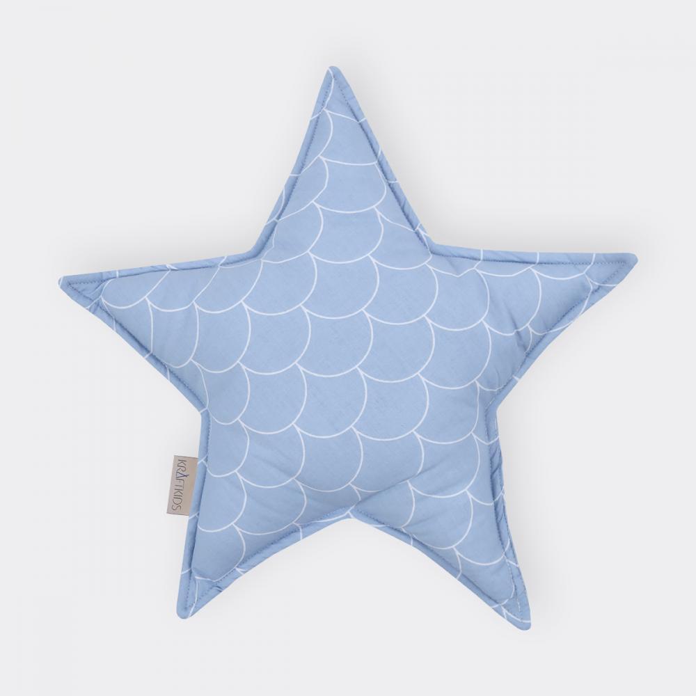 KraftKids Sternkissen weiße Halbkreise auf Pastelblau