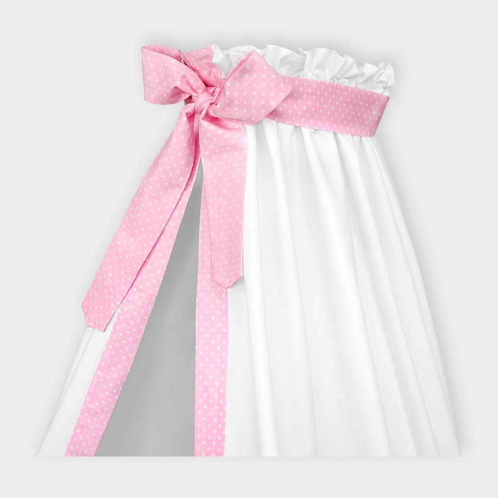 KraftKids Betthimmel weiße Punkte auf Rosa