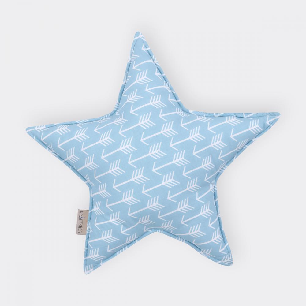 KraftKids Dekoration Sternkissen weiße Pfeile auf Blau