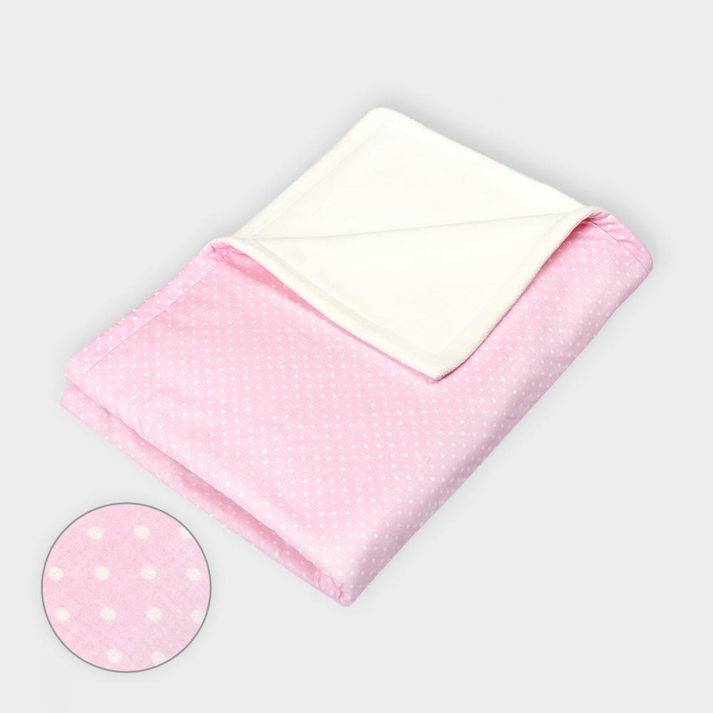 KraftKids Babydecke weiße Punkte auf Rosa