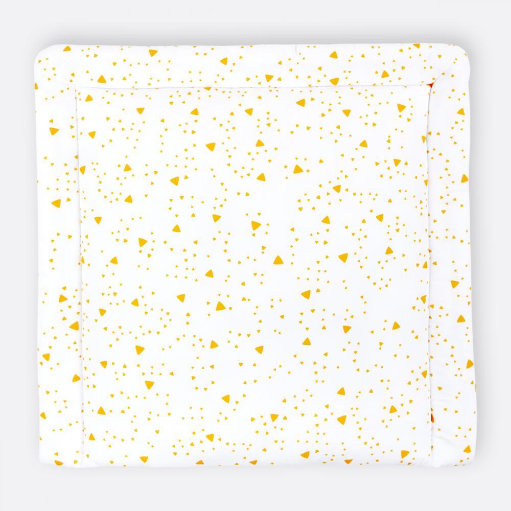 KraftKids Wickelauflage abgerundete Dreiecke gelb breit 75 x tief 70 cm