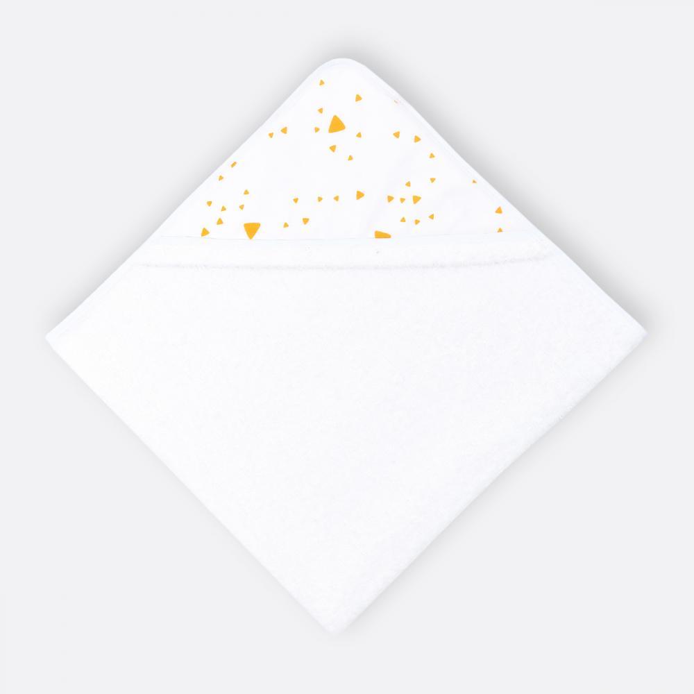 KraftKids Kapuzenhandtuch abgerundete Dreiecke gelb