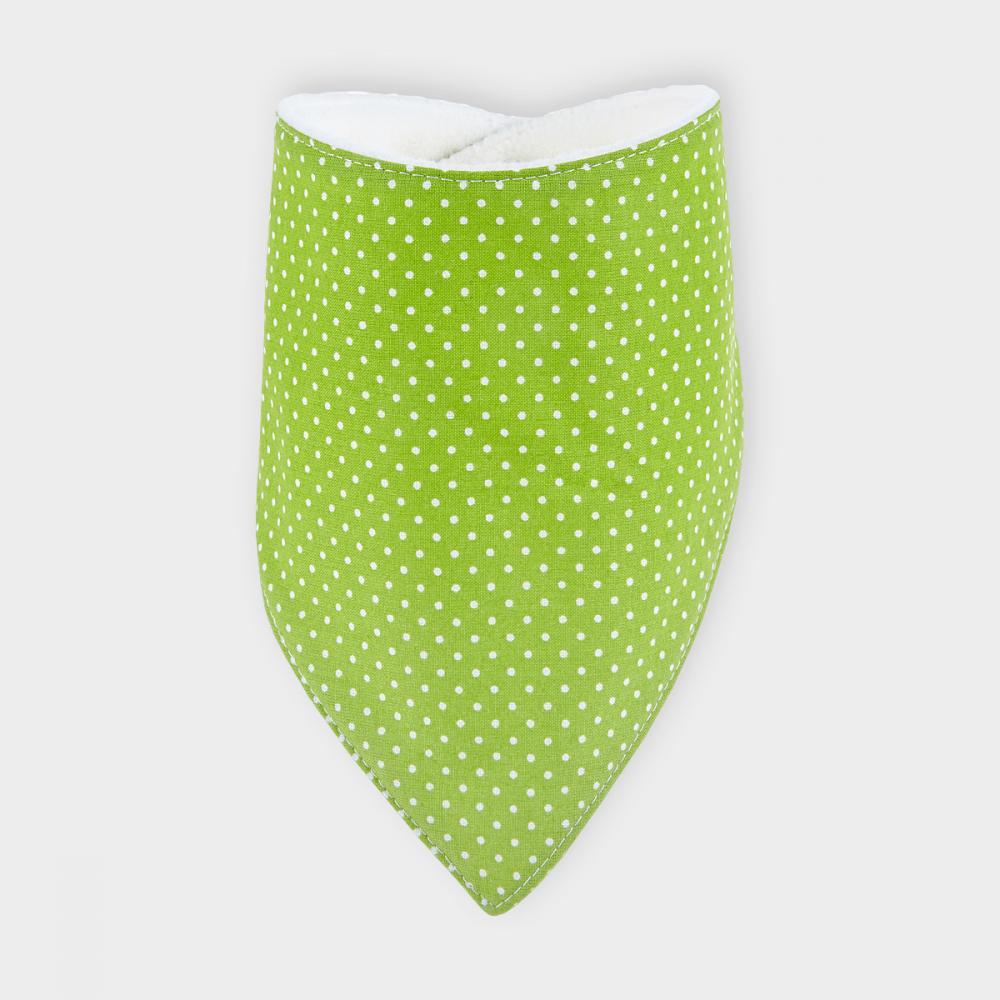KraftKids Dreieckstuch weiße Punkte auf Grün