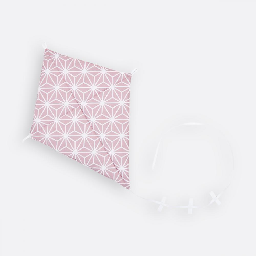 KraftKids Dekoration Luftdrache weiße Diamante auf Cameo Rosa