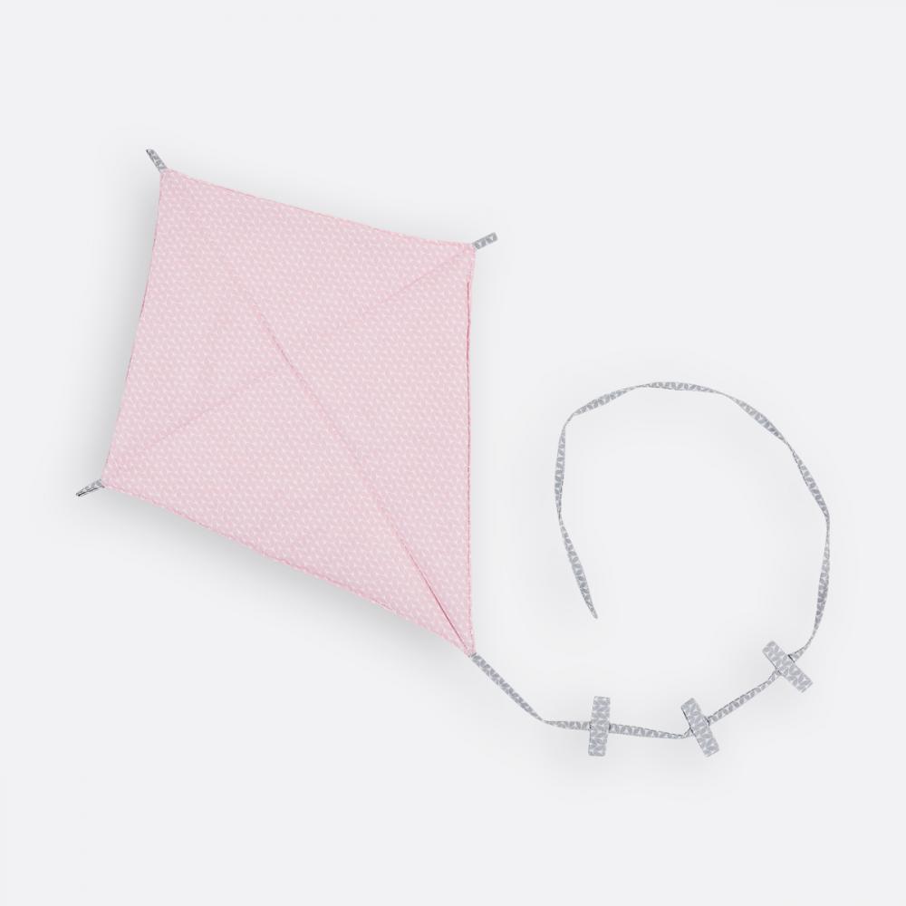 KraftKids Dekoration Luftdrache kleine Blätter rosa auf Weiß