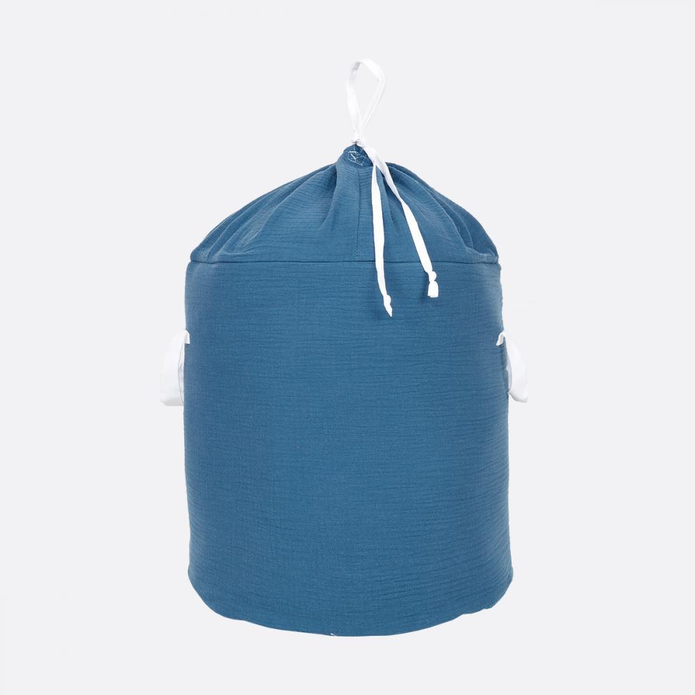 KraftKids Spielzeugkorb Musselin blau