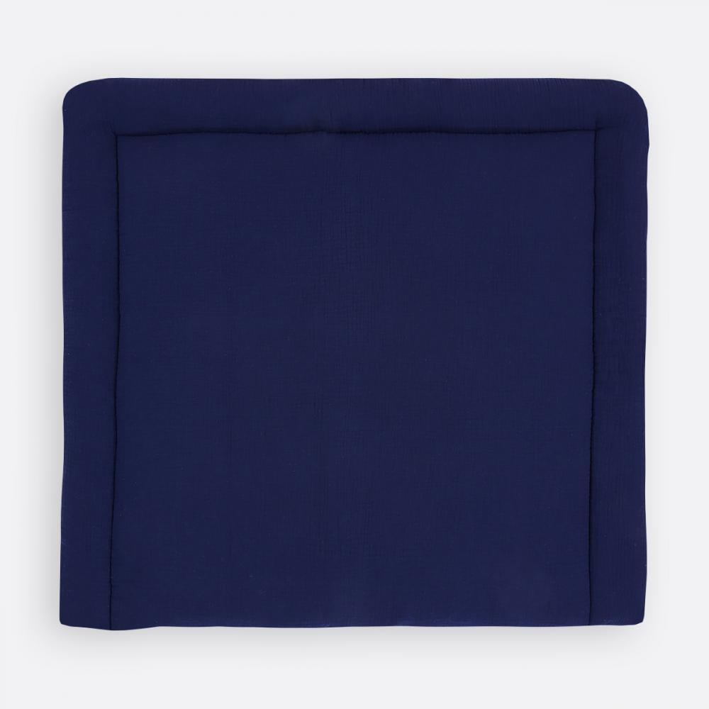 KraftKids Wickelauflage Musselin dunkelblau 85 cm breit x 75 cm tief