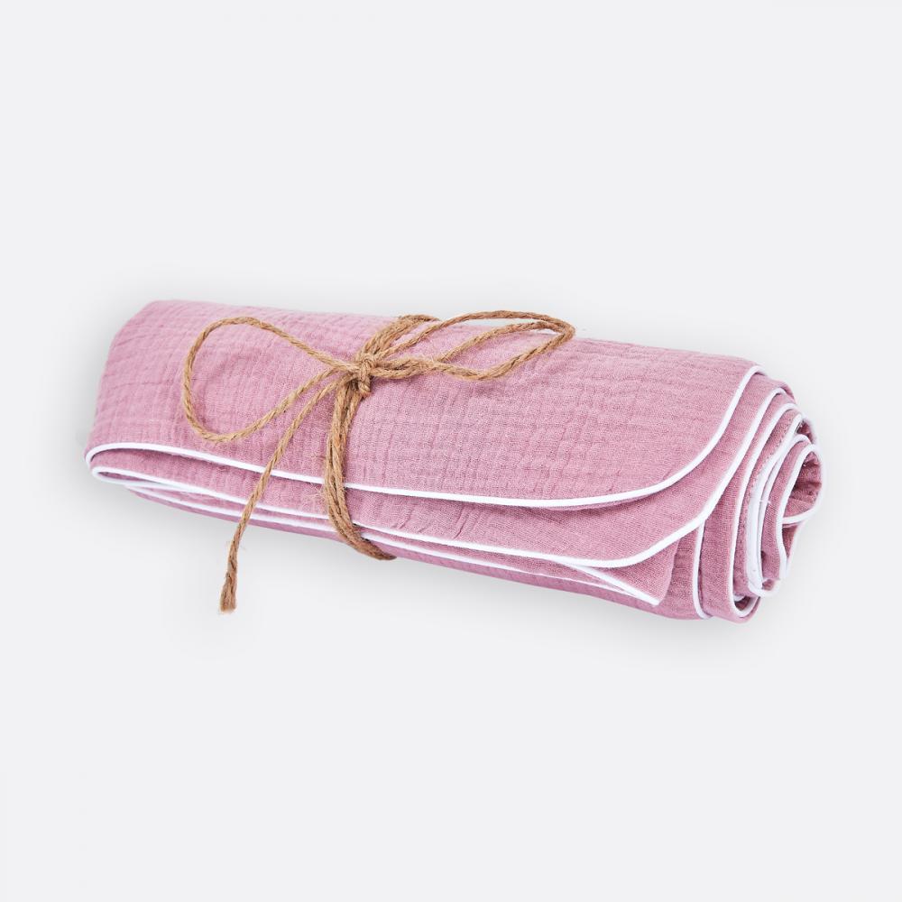 KraftKids Babydecke Musselin rosa