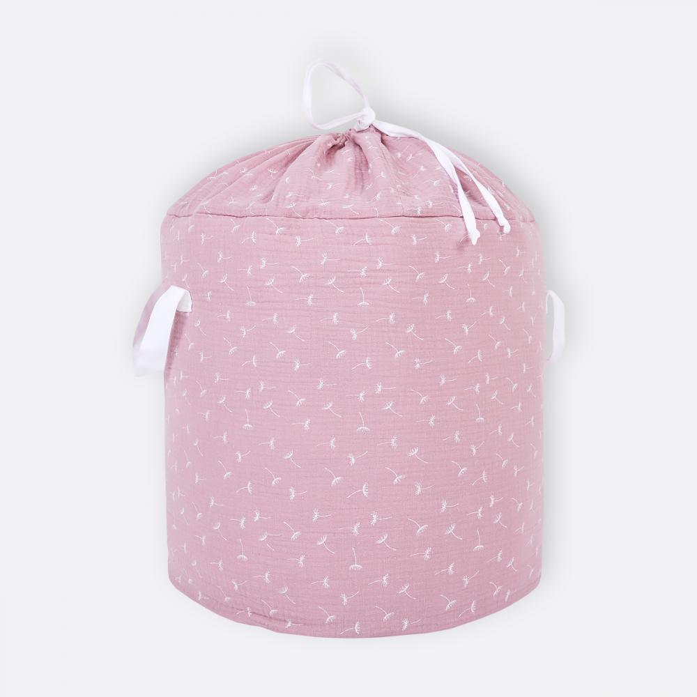KraftKids Spielzeugkorb Musselin rosa Pusteblumen
