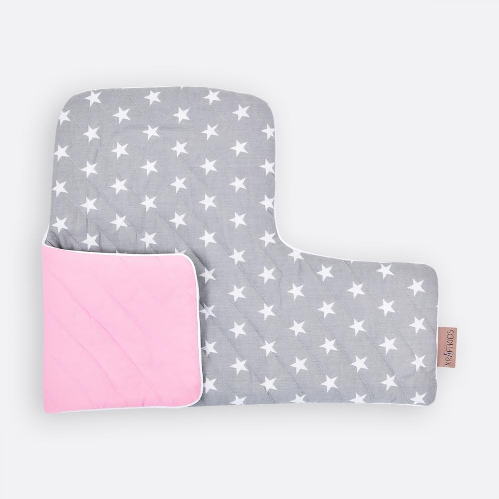 KraftKids Sitzverkleinerer kleine weiße Sterne auf Grau Hochstuhl Hochstuhleinlage