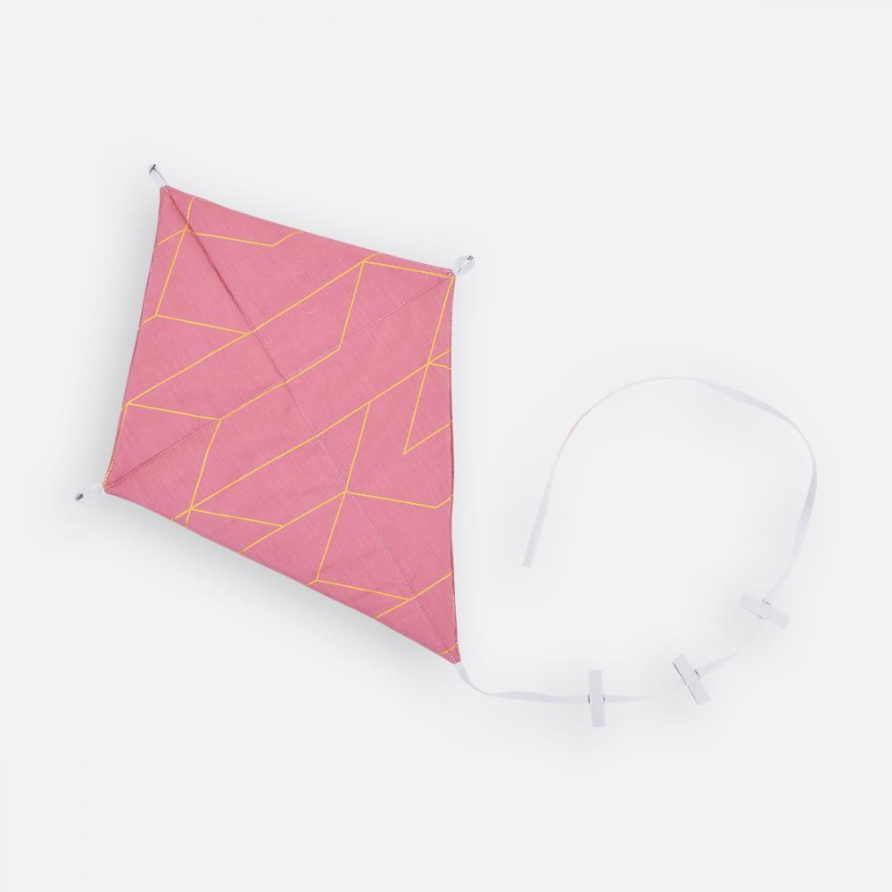 KraftKids Dekoration Luftdrache goldene Linien auf Rosa
