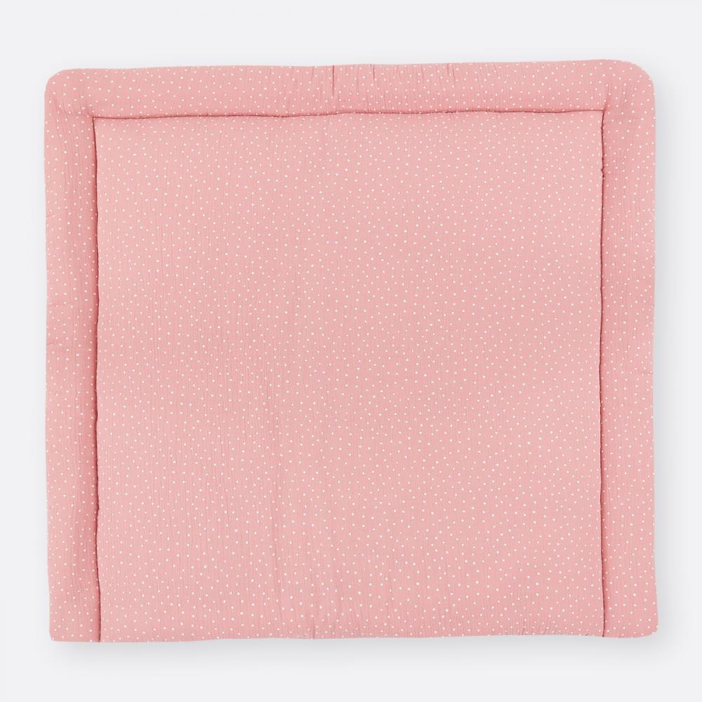 KraftKids Wickelauflage Musselin rosa Punkte breit 75 x tief 70 cm