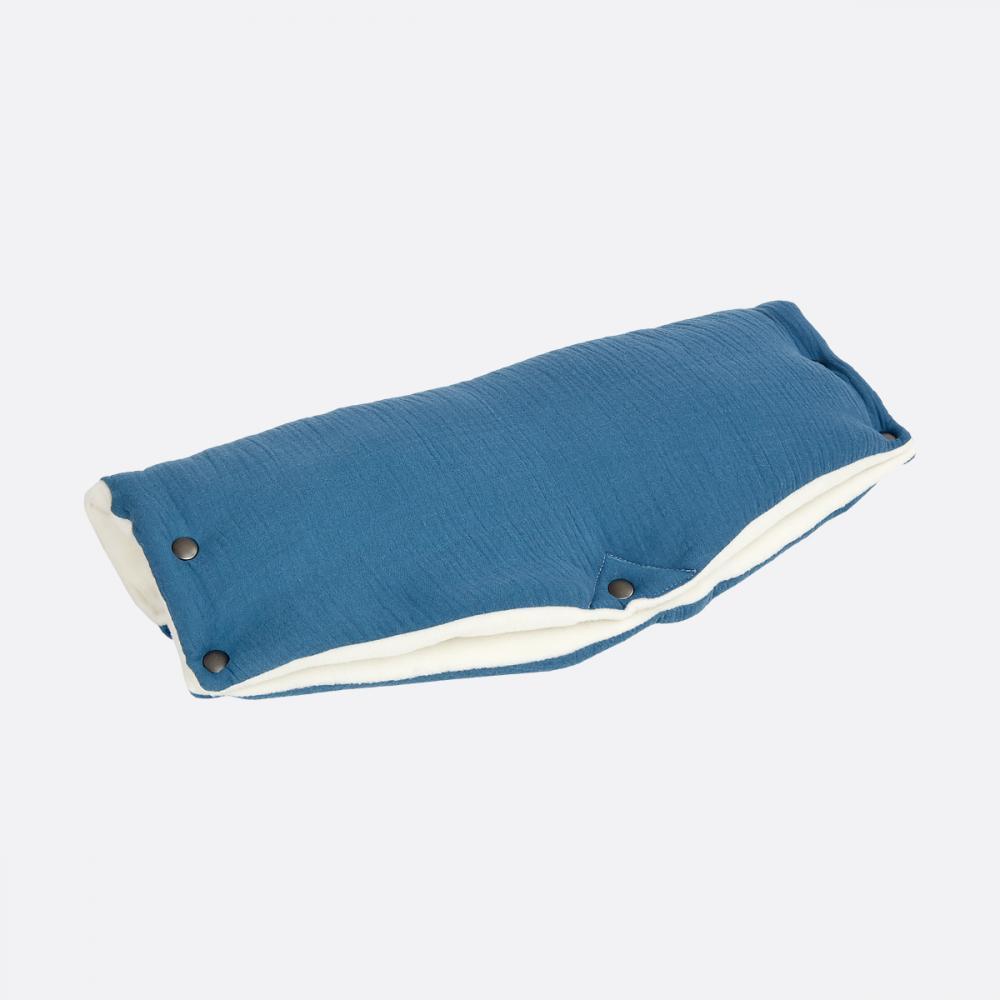 KraftKids Kinderwagenmuff Musselin blau