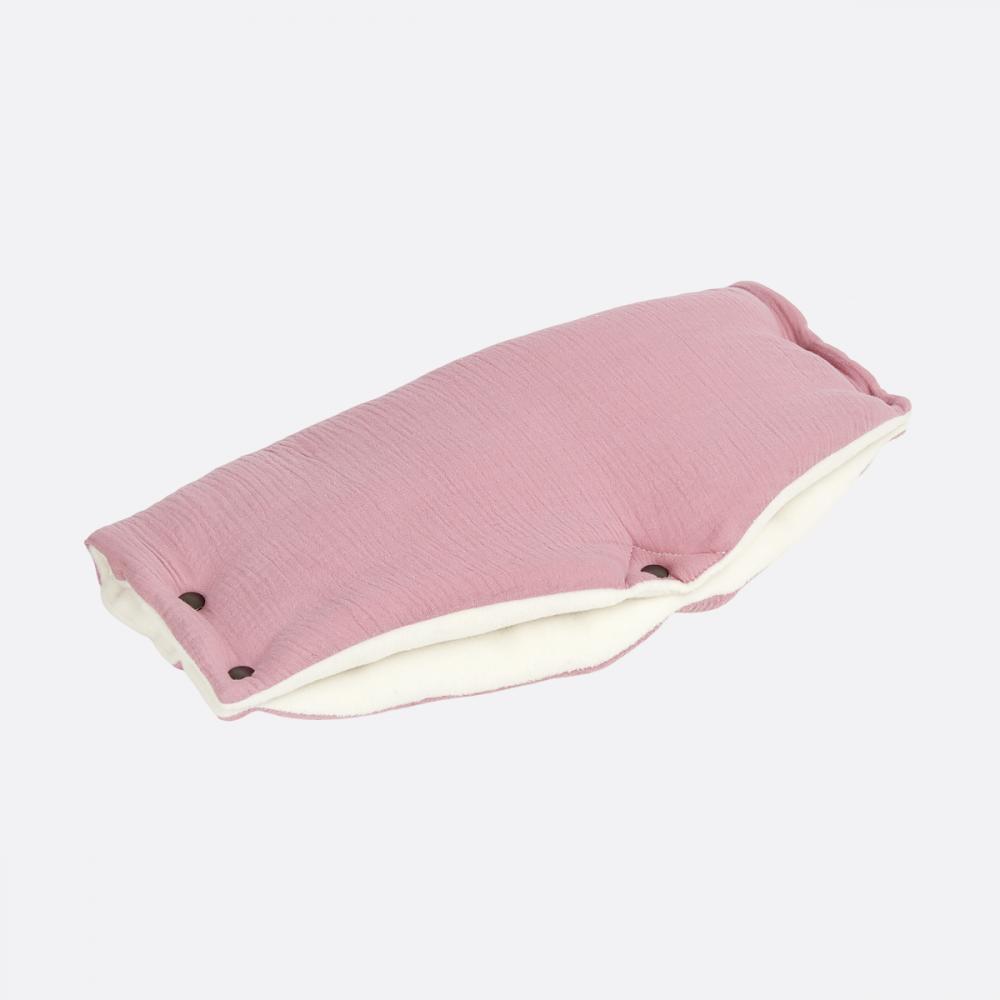 KraftKids Kinderwagenmuff Musselin rosa