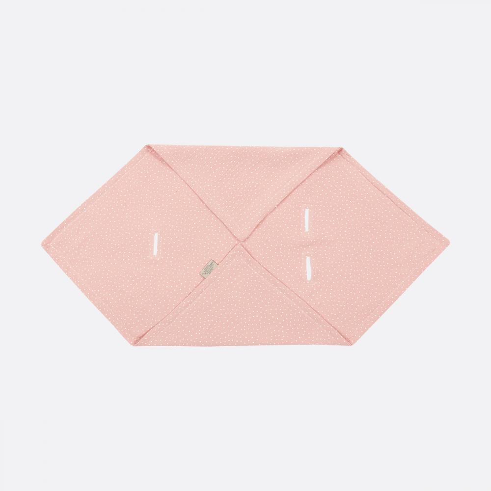 KraftKids Einschlagdecke für Babyschale Sommer Musselin rosa Punkte