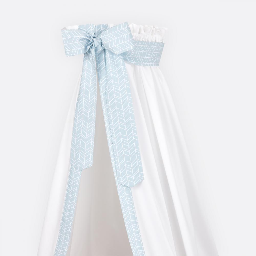 KraftKids Betthimmel weiße Feder Muster auf Blau