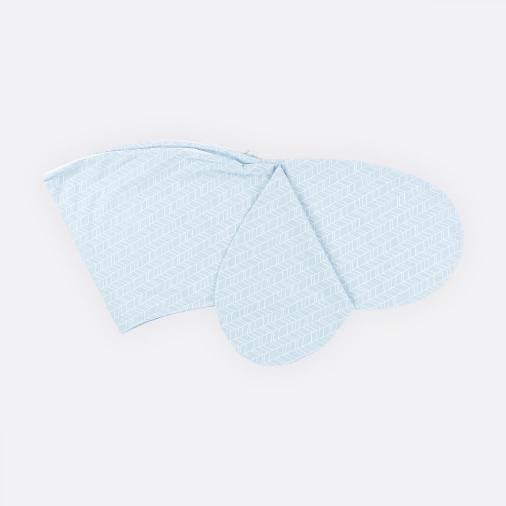 KraftKids Stillkissenbezug weiße Feder Muster auf Blau