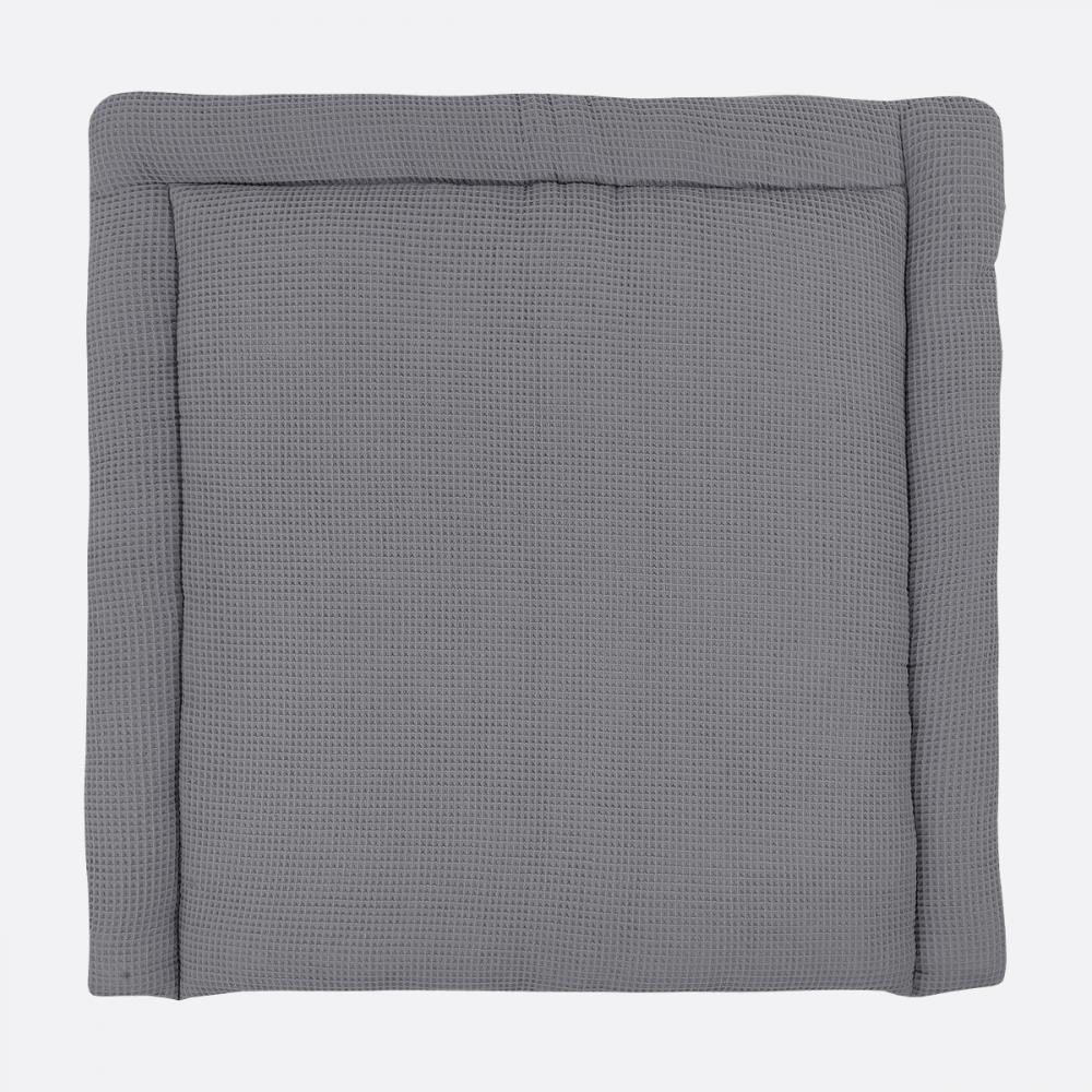KraftKids Wickelauflage Waffel Piqué grau breit 75 x tief 70 cm