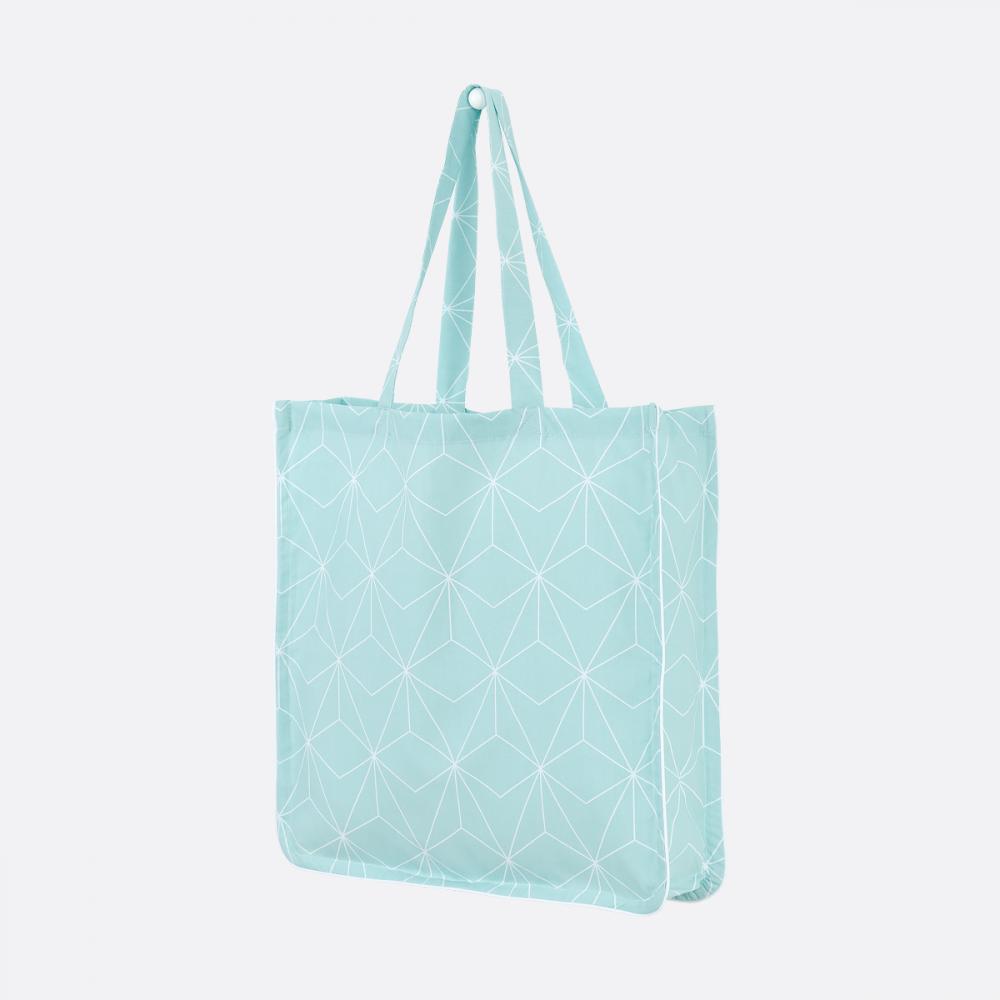 KraftKids Tragetasche weiße dünne Diamante auf Mint Shopper