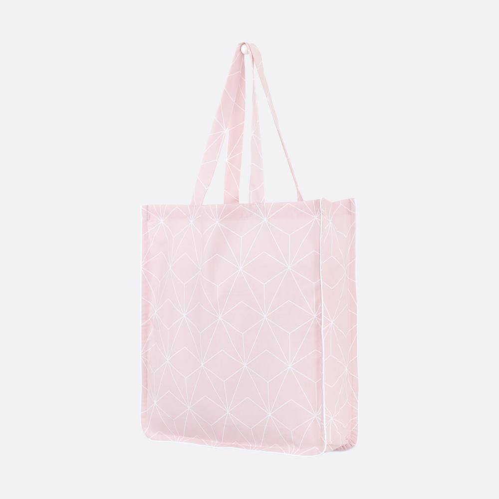 KraftKids Tragetasche weiße Diamante auf Cameo Rosa Shopper