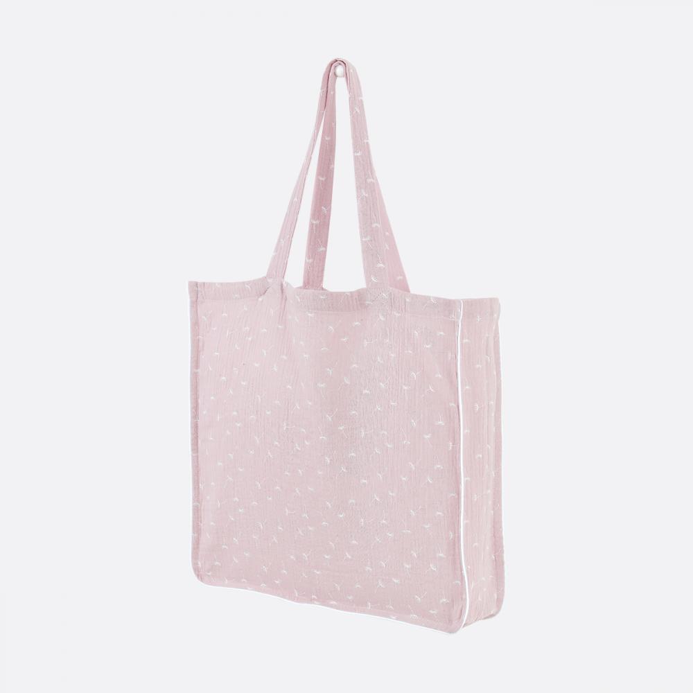 KraftKids Tragetasche Musselin rosa Pusteblumen Shopper