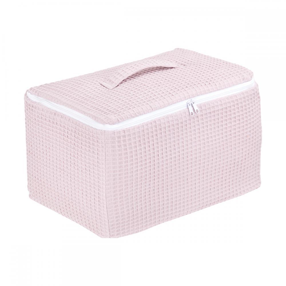 KraftKids Körbchen verschliessbar Waffel Piqué rosa 33 x 20 x 20 cm