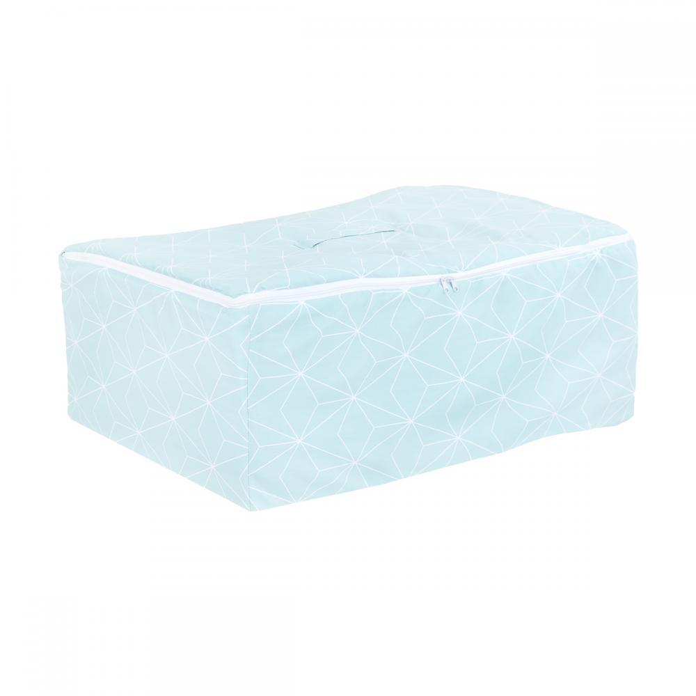 KraftKids Körbchen für Unterbett weiße dünne Diamante auf Mint 60 x 40 x 17 cm