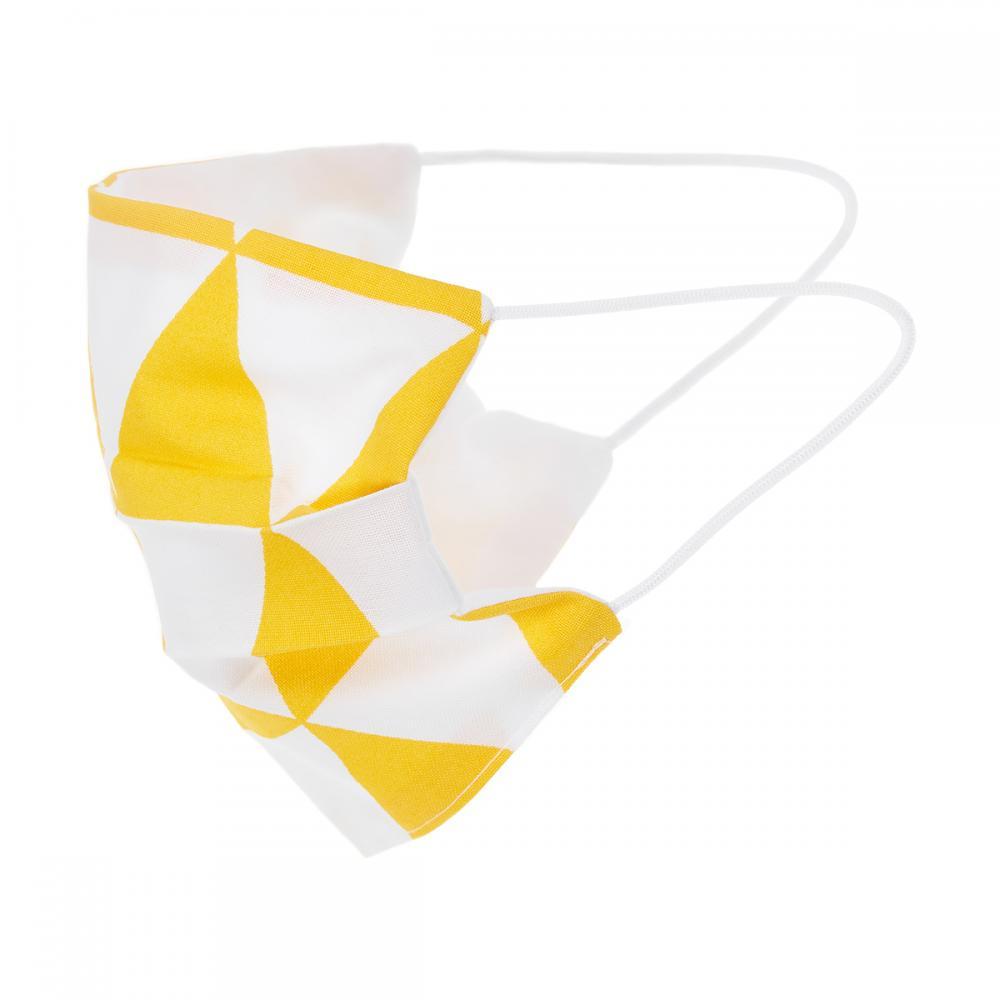 KraftKids Gesichtsmaske gelbe Dreiecke
