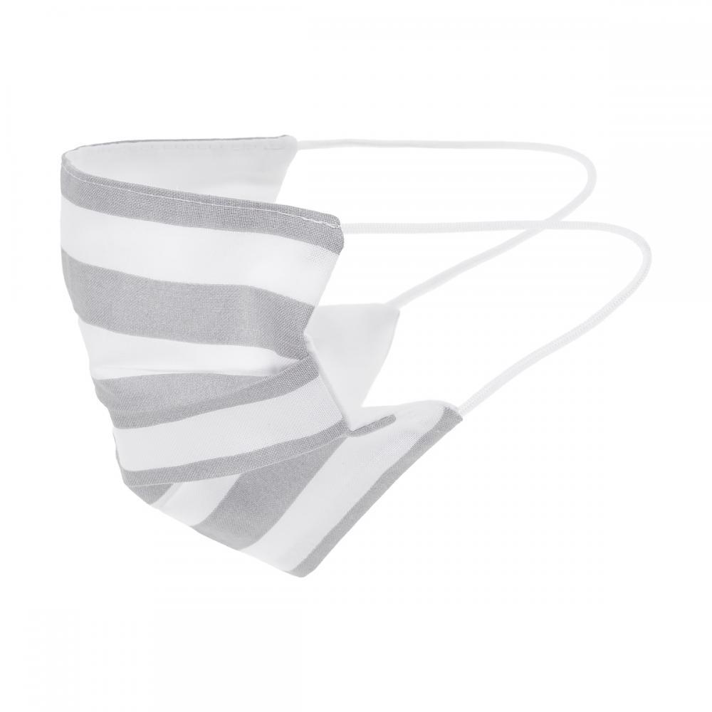 KraftKids Gesichtsmaske dicke Streifen grau