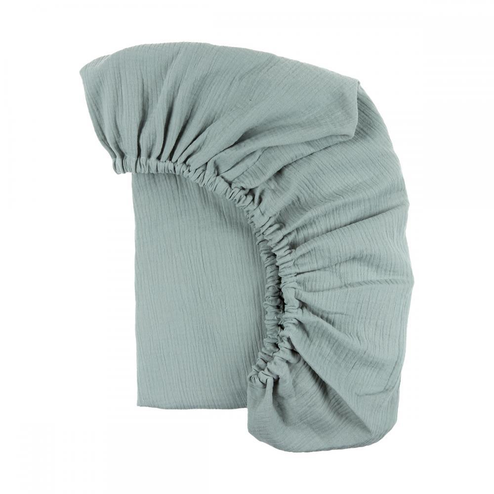 KraftKids Spannbettlaken Musselin mint passend für Matratze 120 x 60 cm