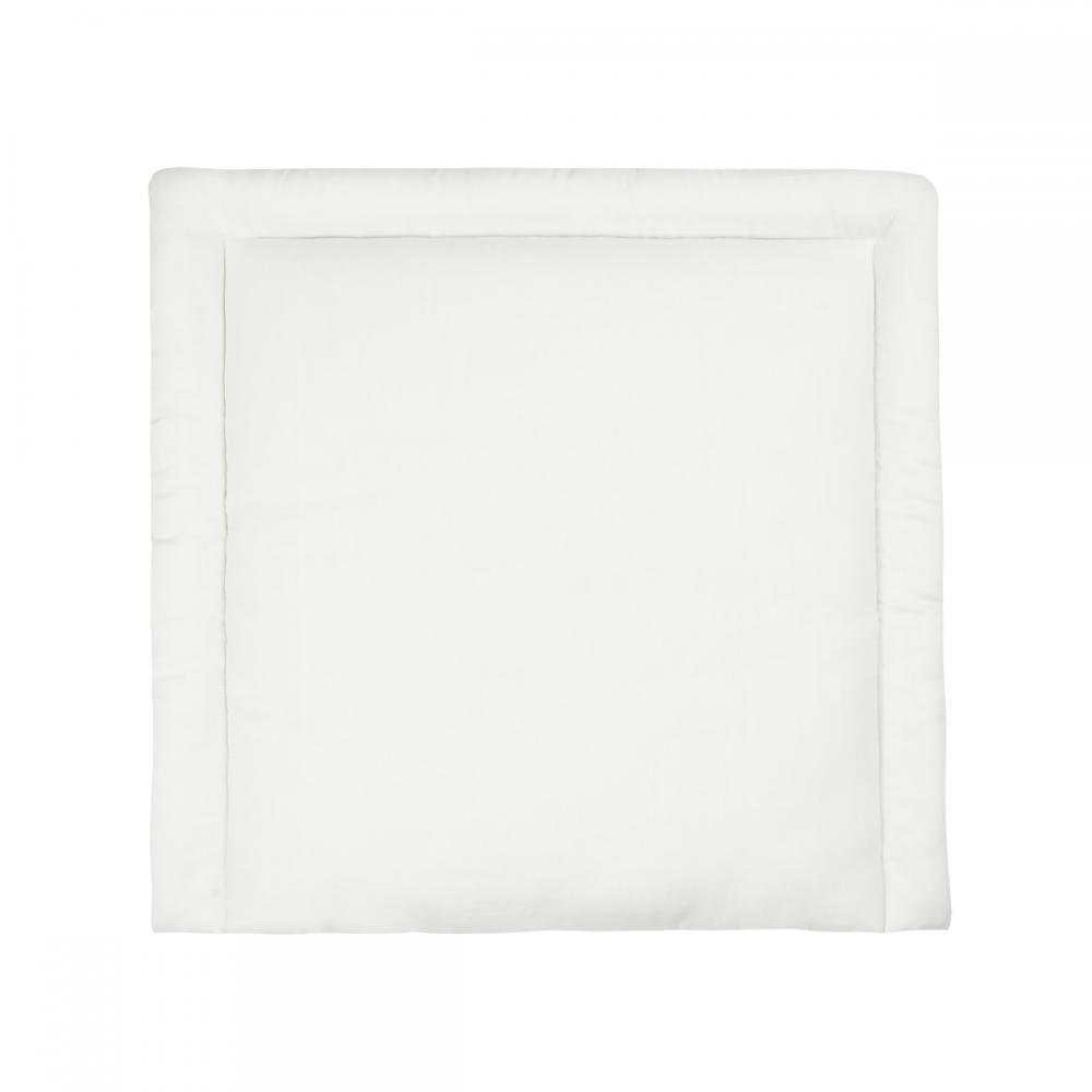 KraftKids Wickelauflage Leinen leicht grünes Weiß breit 75 x tief 70 cm