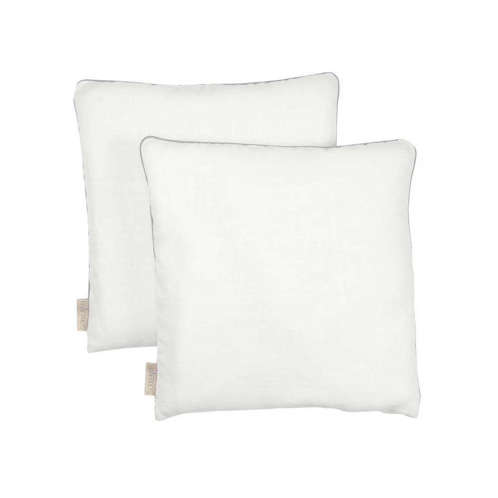 KraftKids Kissenbezug Leinen leicht grünes Weiß