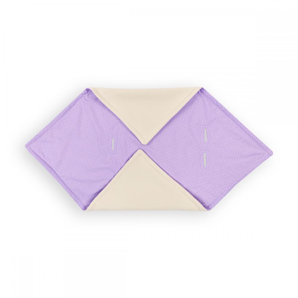 KraftKids Decke für Babyschale Winter weiße Punkte auf Lila