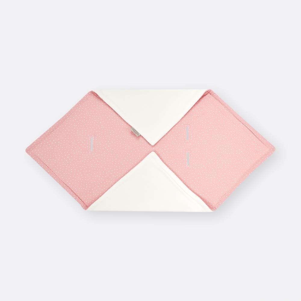 KraftKids Decke für Babyschale Winter Musselin rosa Punkte
