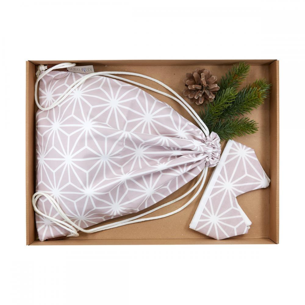 KraftKids Geschenkbox weiße Diamante auf Cameo Rosa