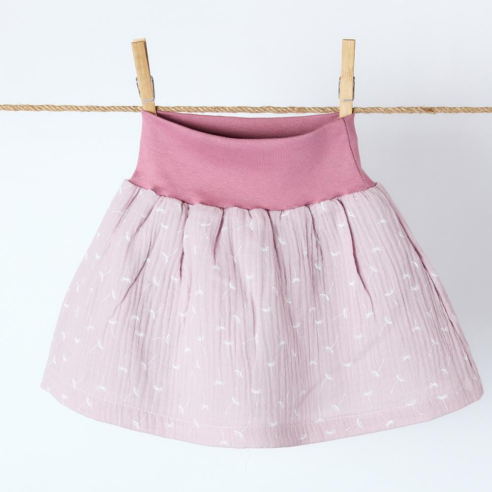 KraftKids Mädchen Rock Musselin rosa Pusteblumen