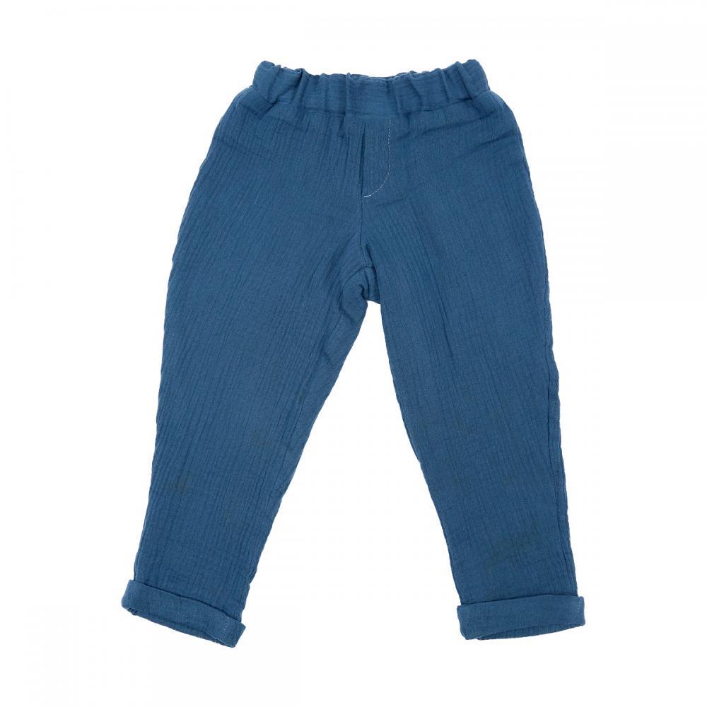 KraftKids Jungen Hose Musselin blau