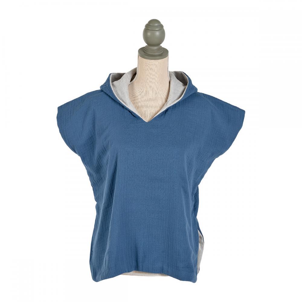 KraftKids Badeponcho Musselin blau